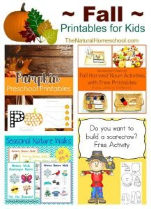 Fall Printables for Kids {Link Party 108}