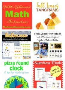 Fall Themed Math Activities {Link Party 109}