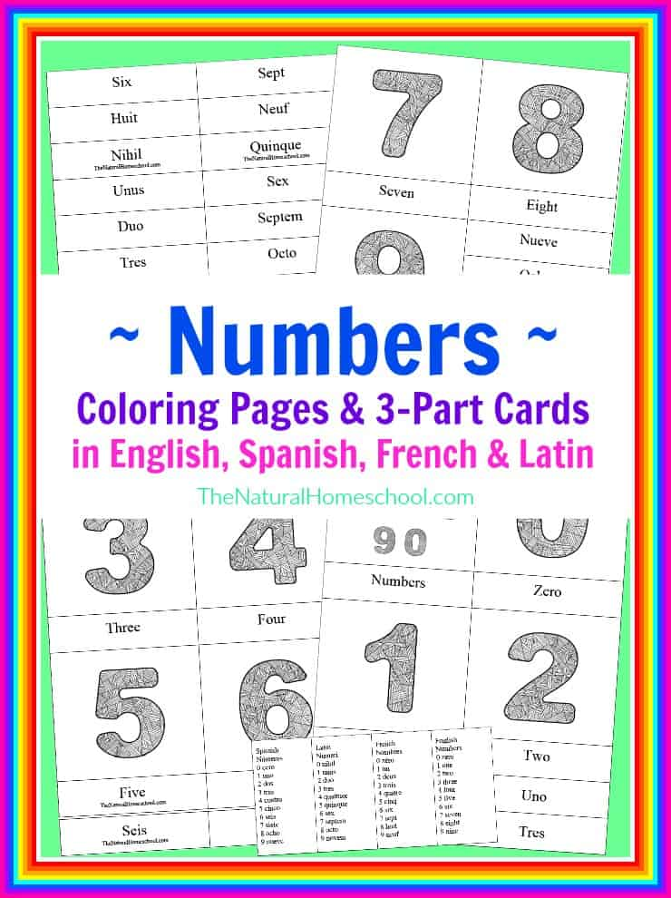 Number Coloring Pages amp 3 Part