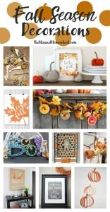 Fall Season Décor {Link Party 111}