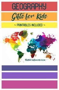 Geography Gifts for Kids {Printables included} ~Black Friday Coupon Code~
