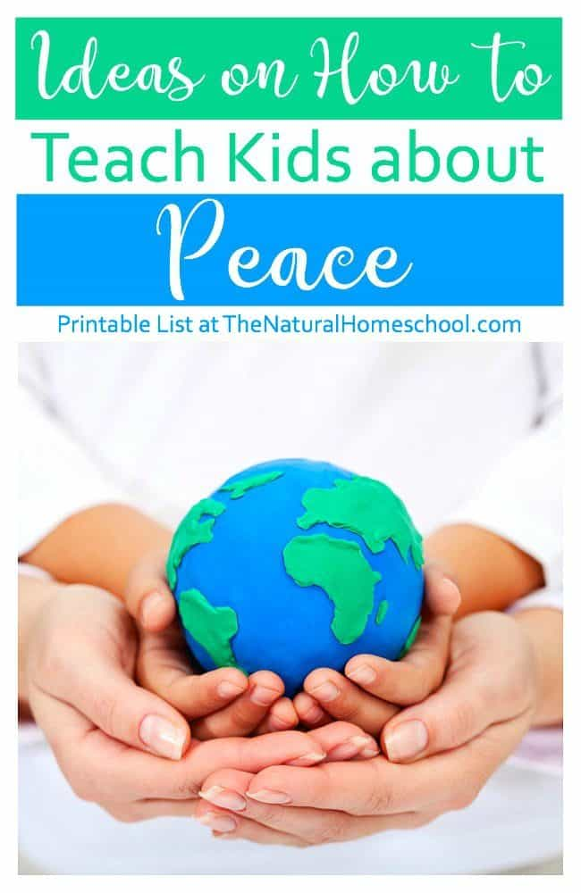 In this post, we will share with you some great ideas on how to teach kids about peace. You can print the list included here and be inspired to come up with ways to teach peace words for kids to follow and apply in their lives.