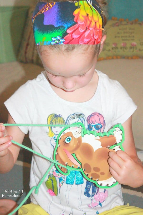 Lacing Toys Develop Fine Motor Skills The Natural Homeschool