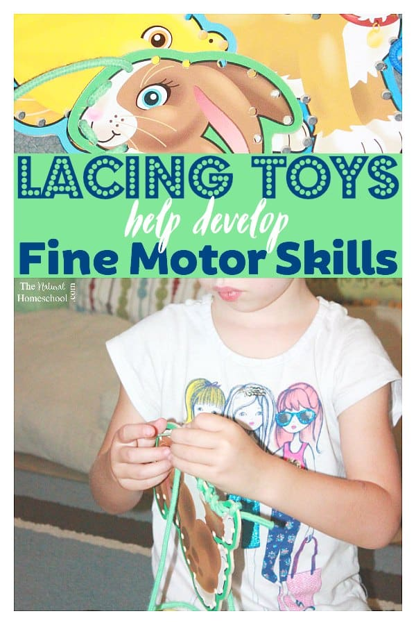 Lacing toys develop fine motor skills the natural homeschool Fine motor development toys