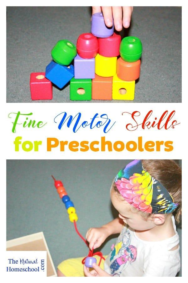 Fine Motor Skills For Preschoolers The Natural Homeschool