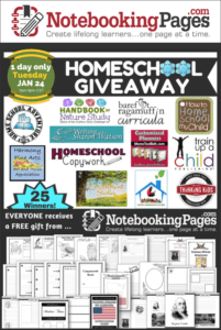 Notebooking Pages HUGE Homeschool Giveaway {January 24th ONLY}