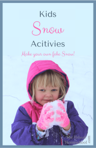 Kids Snow Activities ~ Make your own snow!