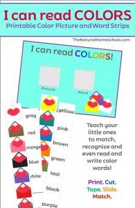 Awesome Printable Heart Activities for Kids {Color Strips}