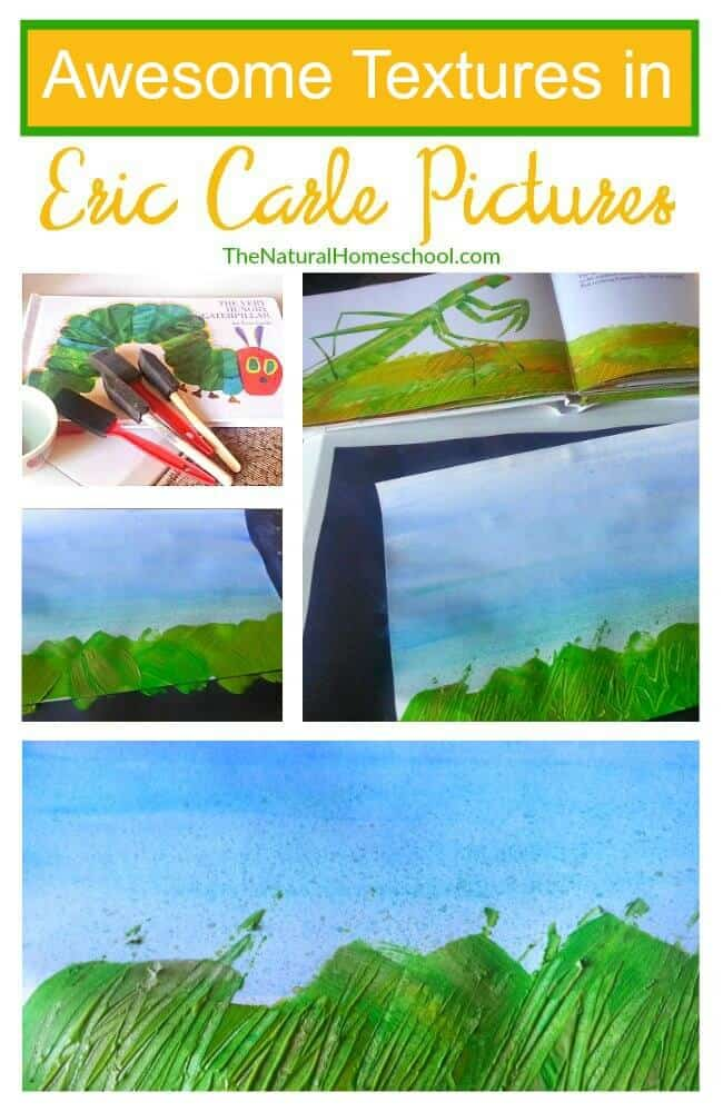 In this post, we will learn how to make brush and scratch textures that Eric Carle pictures are so famous for.