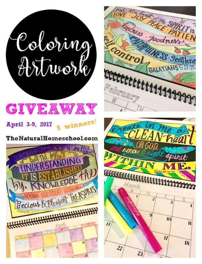 In this post, you will have a chance to enter to win one of these awesome coloring artwork designs!