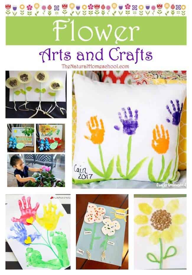 This is an great list of posts that bring you beautiful advice to make Flower Arts and Crafts a wonderful experience. Include your children in the reading. What do they think?