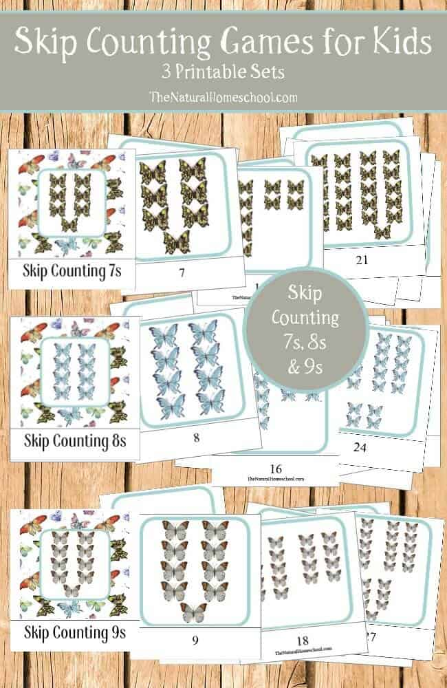 Skip Counting Games For Kids 7s 8s 9s Printables The