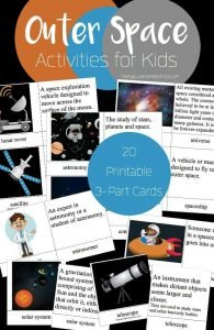 Outer Space Activities for Kids {Printable 3-Part Cards}