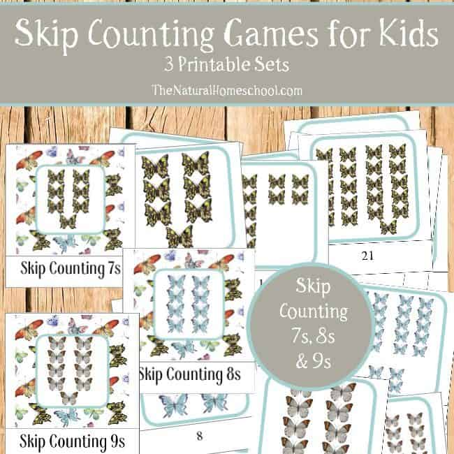 See, we love Math and we love the Montessori Method, so we blended the two and made some Montessori-Inspired Skip Counting Games for Kids that you and your family will enjoy using and learning from.