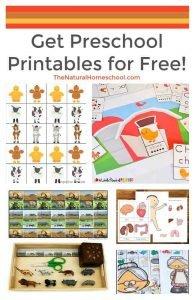 Get Preschool Printables for Free!