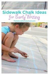 Sidewalk Chalk Ideas for Early Writing