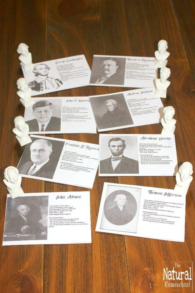 Us Presidents Facts Amp Information Printable Cards The