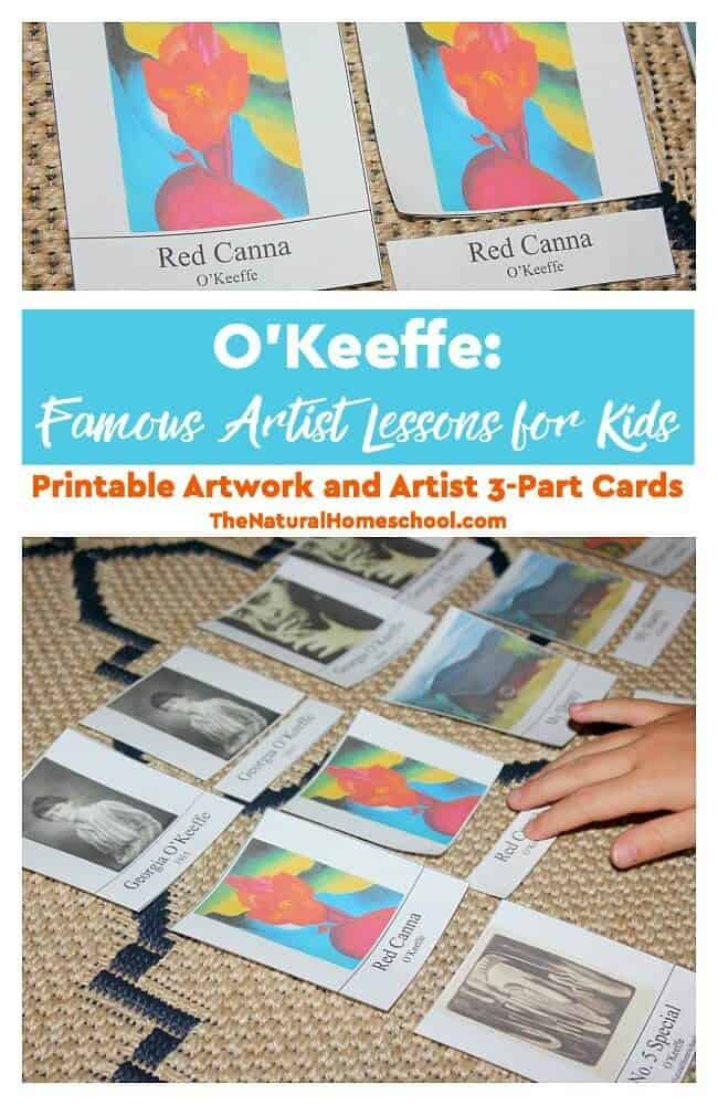 """In this post, we will share with you a great post that is also part of our """"Famous Artist Lessons for Kids"""" series. It is on none other than the famous Georgia O'Keeffe."""