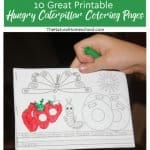 Learning the days of the week, story sequencing, the butterfly life cycle, food names and more; it is a fantastic educational story and resource. So, without further ado, here are 10 of the greatest printable hungry caterpillar coloring pages in the world!