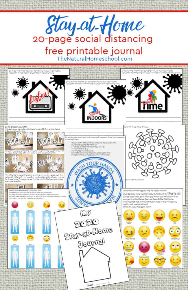 "The ""Stay at Home"" printable journal for your kids and is designed to encourage social distancing, staying healthy physically and emotionally and giving you great ideas."