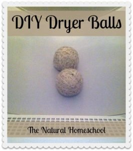 DIY Dryer Balls Tutorial