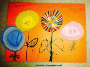 """""""God Made All Flowers"""" Craft (For Toddlers and Preschoolers)"""