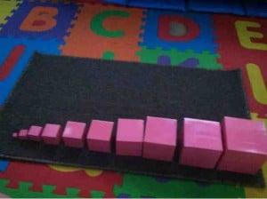 Montessori Sensorial: The Pink Tower