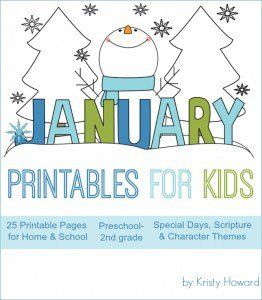 NEW! January Printables for Kids