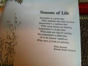 Montessori Culture (History): The Four Seasons