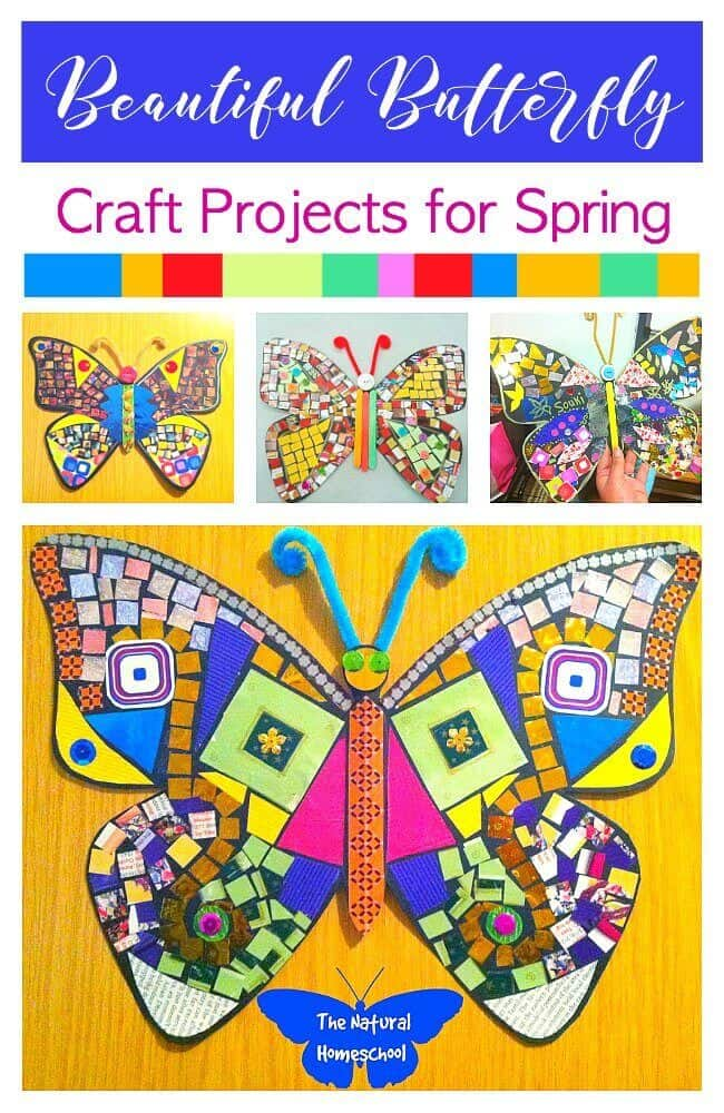 Here are some Butterfly Craft Projects for Spring that kids will enjoy making.