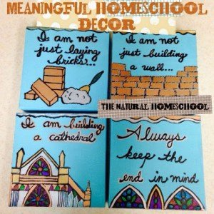 Meaningful Homeschool Décor: Story and Tutorial