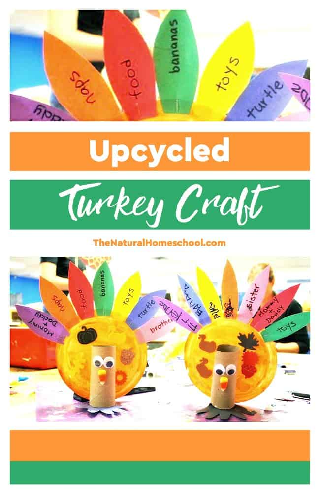 This fun and easy upcycled Turkey Craft for Thanksgiving idea is awesome for you to make on a whim!