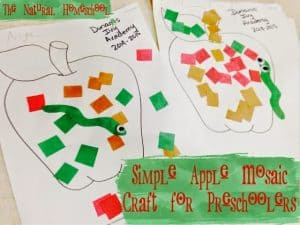 Simple Apple Mosaic Craft for Preschoolers