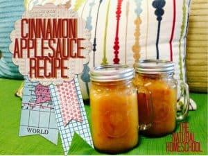 Cinnamon Applesauce Recipe to make with your children