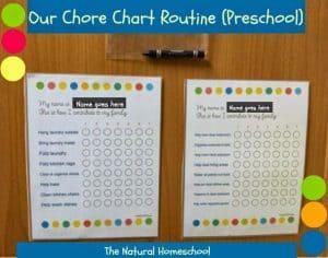 Our Chore Chart Routine (Preschool)