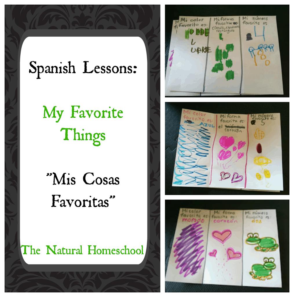 """Spanish Lessons: My Favorite Things """"Mis Cosas Favoritas"""""""