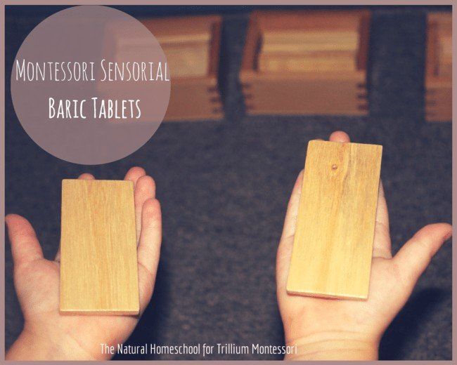 Montessori Sensorial: Baric Tablets Introduction
