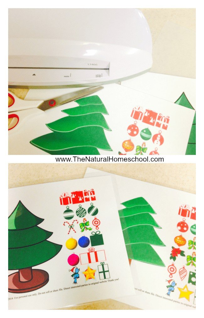 If we let our children redecorate the tree any time they wanted, it would just end up being a weird-looking tree and maybe have a few broken ornaments to clean up each time. So why not offer an alternative like this Christmas Tree Decorating Activity with free printable?