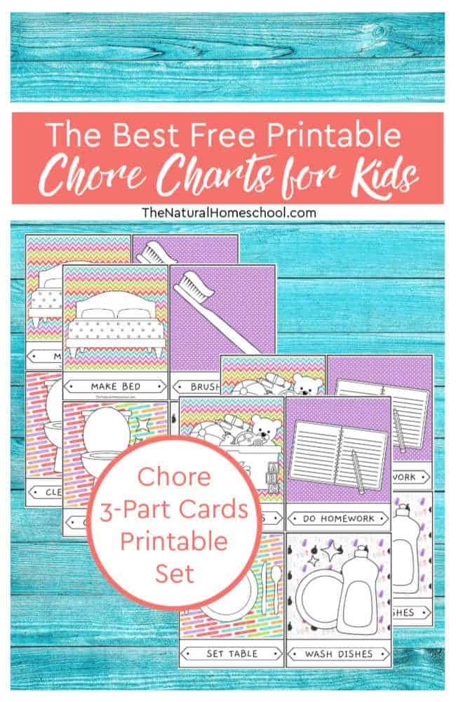 image relating to Free Printable Chore Cards named The Easiest No cost Printable Chore Charts for Little ones - The Natural and organic