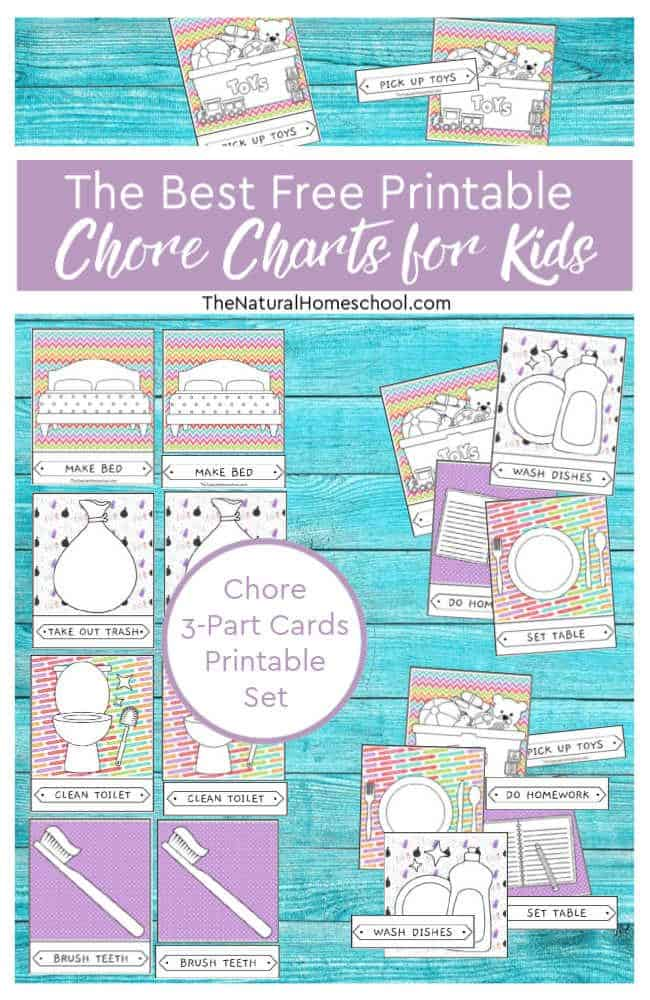 photograph regarding Free Printable Chore Cards called The Most straightforward Totally free Printable Chore Charts for Young children - The Natural and organic