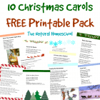 10 Christmas Carols Free Printable Pack