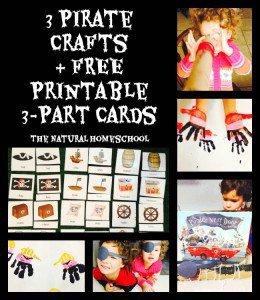 3 Pirate Crafts + Free Printables