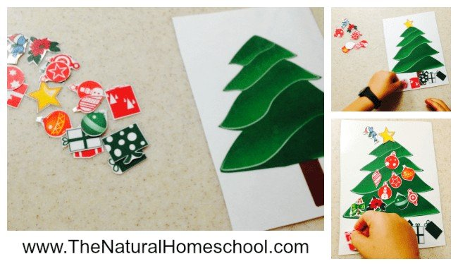Christmas Tree Decorating Activity for Children www.thenaturalhomeschool.com