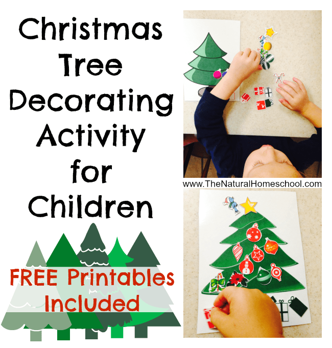 photo relating to Free Printable Christmas Tree named Xmas Tree Decorating Match with No cost Printable - The