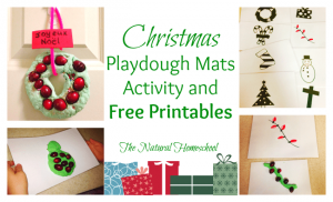 Christmas Playdough Mats Activity & Free Printables