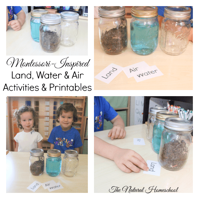 Montessori-Inspired Land, Water & Air Activities & Printables
