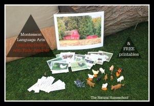 Montessori Language Arts: Learning Nouns with FREE Farm Animals Printables