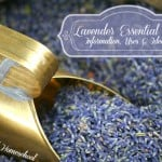 For emotional balance and sleep - Rub lavender essential oil (mixed in with a carrier oil like coconut oil) on the soles of your feet - Put in a glass spray bottle with water (3-5 drops per 8oz of water), shake well and spray on yourself and your pillow before bed