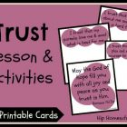 """Trust"" 3-Part Lesson & Activities (Free Printables)"