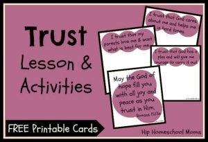 """Trust"" 3-Part Lesson & Activities (Free Printables)"